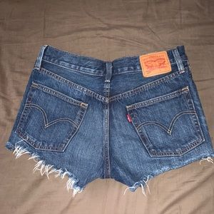 Levi's 501 button fly shorts in Echo Park 26